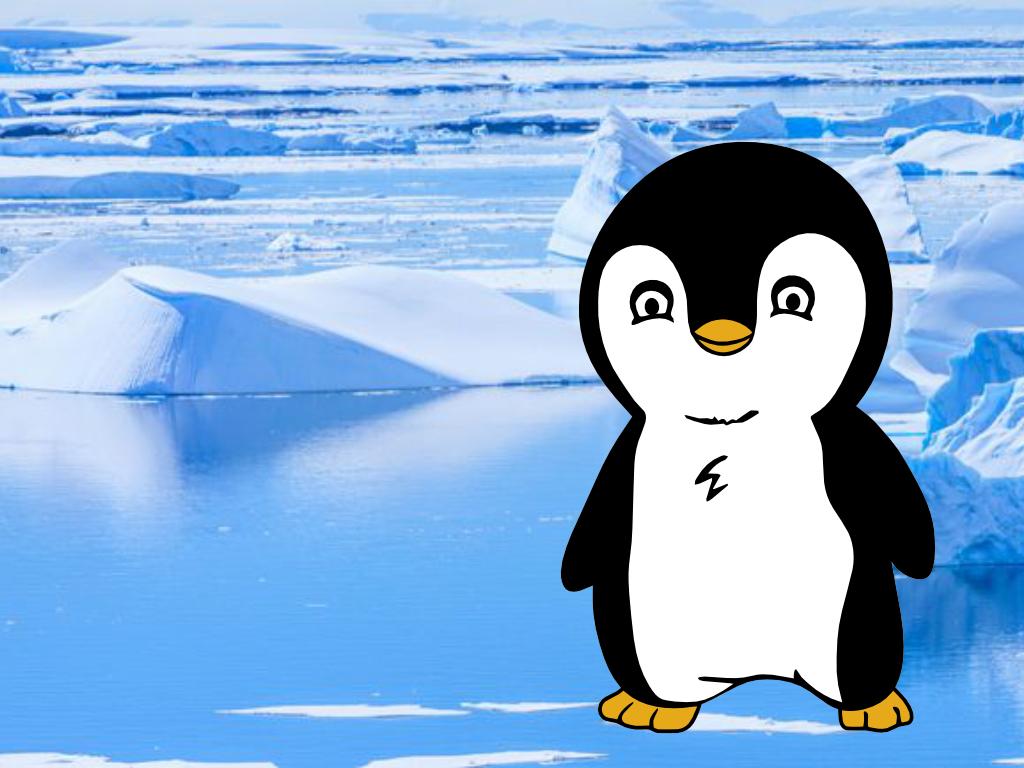 pinguin met achtergrond